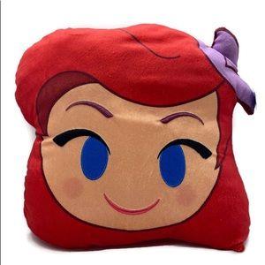DISNEY Emoji Ariel Princess Pillow Little Mermaid